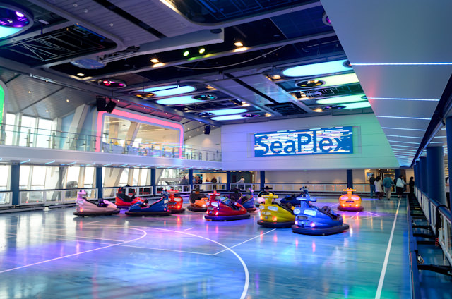 The SeaPlex - and the first bumper cars at sea. Photo © 2014 Aaron Saunders