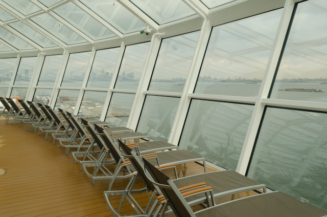 Now this is my kind of space! The Solarium overlooks the bow and lets in plenty of the surrounding oceanscape. Photo © 2014 Aaron Saunders