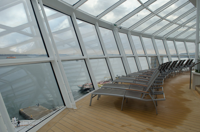 The Solarium offers an awesome connection to the sea. Photo © 2014 Aaron Saunders
