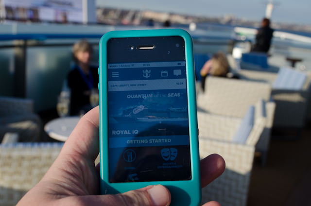 This afternoon, I used my iPhone to make a reservation for tonight's show in Two70 - from the pool deck. I don't necessarily like having to use my phone, but I'll admit it is convenient. Photo © 2014 Aaron Saunders