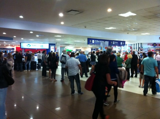 The arrivals hall at Buenos Aires Ezeiza Airport, also known as Ministro Pistarini Airport. Photo © 2015 Aaron Saunders