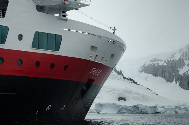 Early this morning, we disembarked Hurtigruten's FRAM for another exciting adventure in the Antarctic Peninsula! Photo © 2015 Aaron Saunders