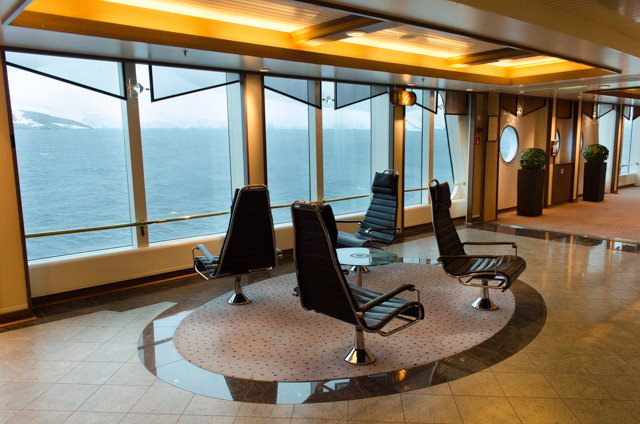 Waiting for the weather outside to clear up from Deck 4...Photo © 2015 Aaron Saunders