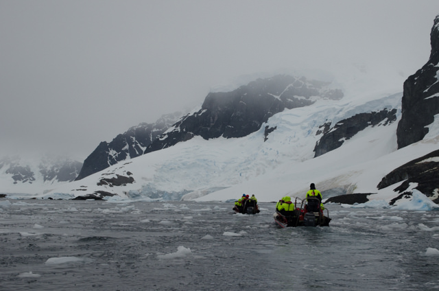 ...and set out to explore Antarctica's Errera Channel on our optional morning tour. Photo © 2015 Aaron Saunders