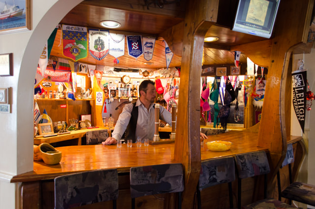 ...and a small bar with the best (and only ) Vodka in town. Photo © 2015 Aaron Saunders