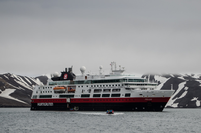 ...and ashore to explore Whalers Bay, Antarctica! Photo © 2015 Aaron Saunders