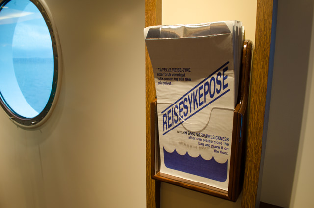 You also might need this. But fear not - they're everywhere, even in your staterooms. Photo © 2015 Aaron Saunders