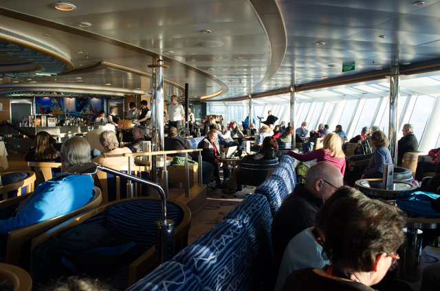 Unhappy News: Guests aboard the FRAM learn their trip is being cut short. Photo © 2015 Aaron Saunders