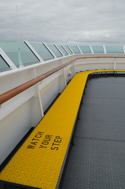 Designers have even added a raised platform on Deck 8 to allow guests to overlook the ship's bow. Photo © 2015 Aaron Saunders