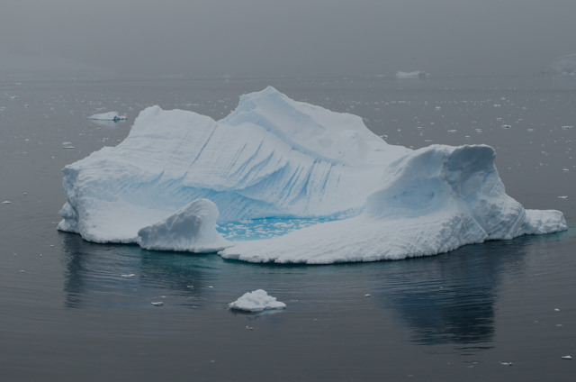 Massive ice floes are literally everywhere...Photo © 2015 Aaron Saunders