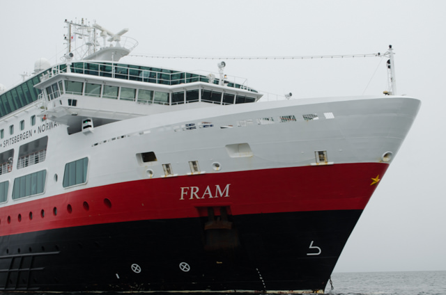 FRAM at anchor in the South Shetland Islands this evening. Photo © 2015 Aaron Saunders