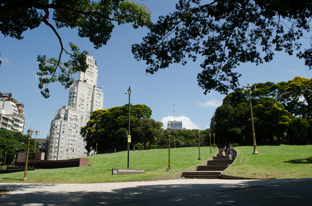 Buenos Aires is littered with attractive, almost European parks. Shown here is Plaza San Martin. Photo © 2015 Aaron Saunders