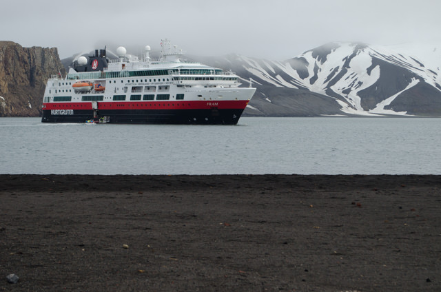 Despite some service issues, Hurtigruten's FRAM is still one of the best ships in the region thanks to the design of the ship itself, and her fabulous onboard Expedition Team. Photo © 2015 Aaron Saunders