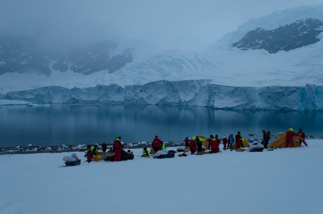 Special experiences, like the ability to camp ashore in Antarctica, really set Hurtigruten apart. Photo © 2015 Aaron Saunders