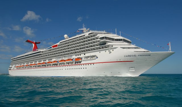 Join us in February as we set sail on Carnival Freedom's first sailing from Galveston, Texas! Photo courtesy of Carnival Cruise Lines.