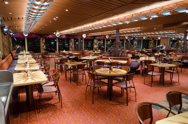 The attractive Freedom Restaurant on Deck 9 is Carnival Freedom's causal buffet. Photo © 2015 Aaron Saunders