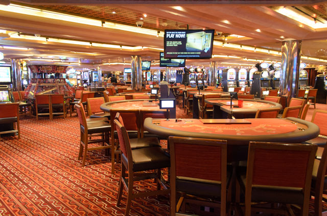The Casino on Deck 5: atypically smoky - but then, it was atypically busy, too. Photo © 2015 Aaron Saunders