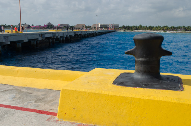 Costa Maya is a decent walk in...but there's a tram if you're feeling particularly unadventurous. Photo © 2015 Aaron Saunders