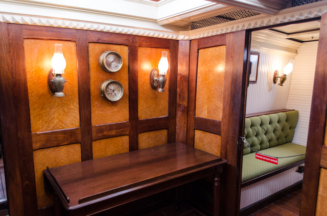 Interior restoration aboard the Elissa, which was built in 1877 in Scotland. Photo © 2015 Aaron Saunders