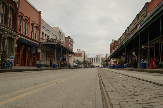 Exploring the historic streets of Galveston, largely deserted at this early hour because of Mardi Gras celebrations the night before! Photo © 2015 Aaron Saunders
