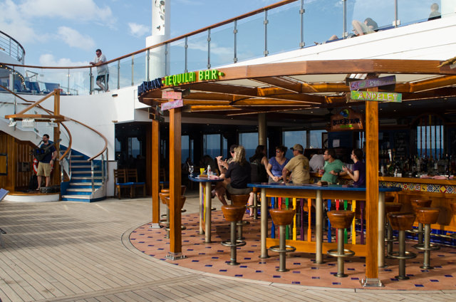 The BlueIguana Tequila Bar is a recent FunShip 2.0 addition to Carnival Freedom - and just one of many ways the line is diversifying their onboard product. Photo © 2015 Aaron Saunders