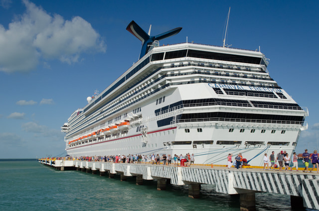 Disembarking Carnival Freedom in Progreso...Photo © 2015 Aaron Saunders