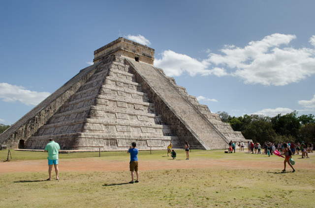 Chichen Itza's El Castillo, the anchorpiece of the ancient Mayan-Tulmec civilization. Photo © 2015 Aaron Saunders