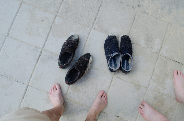 We might write about cruises...but it seems we can't handle the mechanics of walking across a beach without destroying our shoes. Someday we'll be cool... Photo © 2015 Aaron Saunders