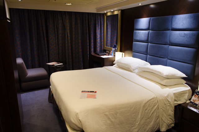Staterooms aboard MSC Divina are attractive and well-appointed. Photo © 2015 Aaron Saunders