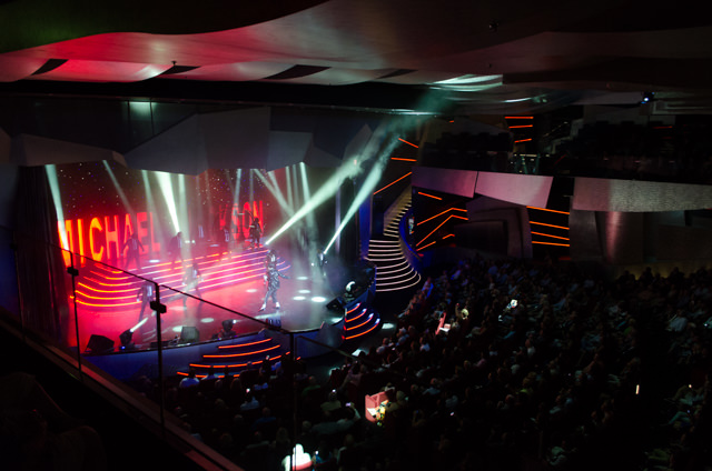 Tonight, the cast of the MSC Divina put on a tribute to the late Michael Jackson. Photo © 2015 Aaron Saunders