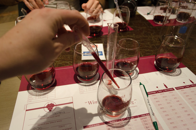 Playing mad scientist with some Malbec... Photo © 2015 Aaron Saunders