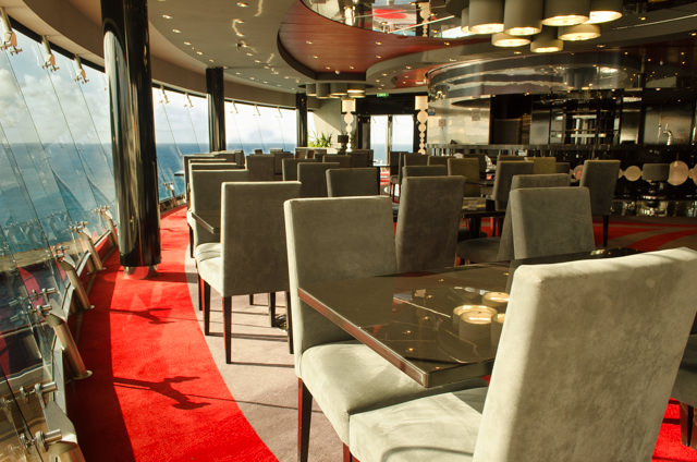 Tonight, we dined in Galaxy, MSC Divina's Mediterranean-fusion restaurant located on Deck 16. Photo © 2015 Aaron Saunders