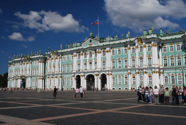 The Hermitage seen from Palace Square in Saint Petersburg, Russia