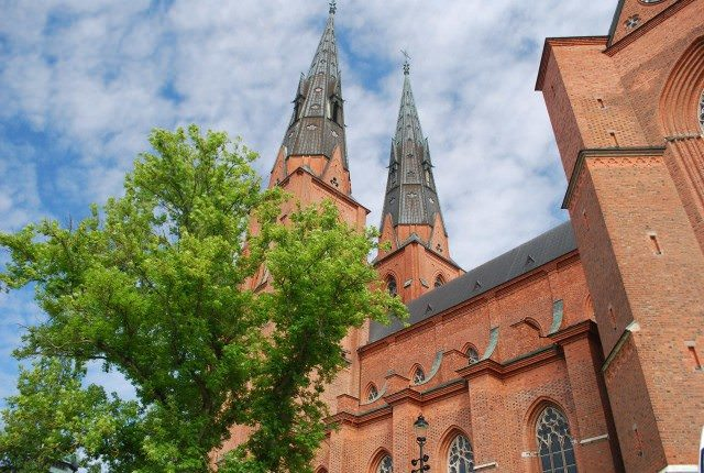 The magnificent Uppsala Cathedral, second largest brick gothic cathedral in Europe