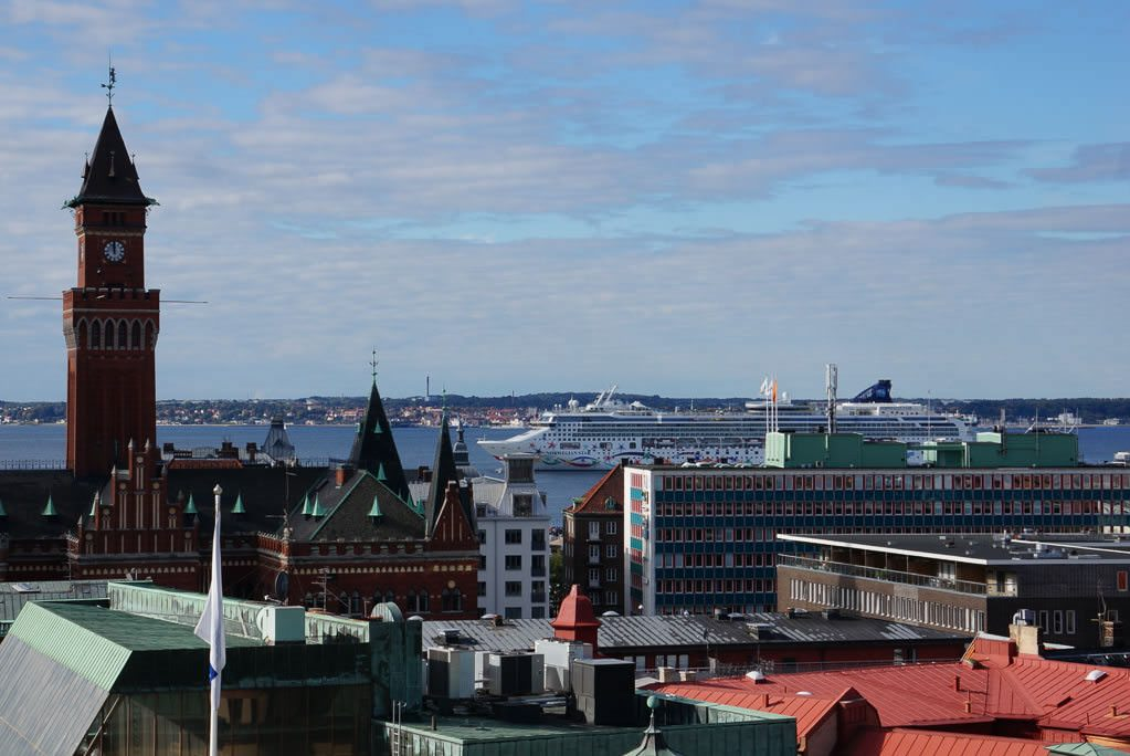 View of Helsingborg from the castle Karnan. ©2014 Ralph Grizzle