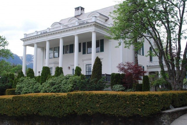 The colonial Alaska Governor's Mansion overlooking Juneau