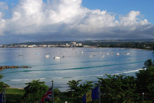 The Bridgetown skyline from the Barbados Hilton Hotel