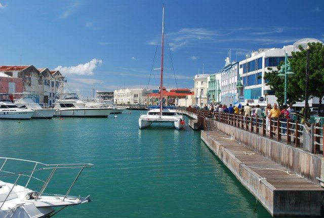 The waterfront in downtown Bridgetown, Barbados