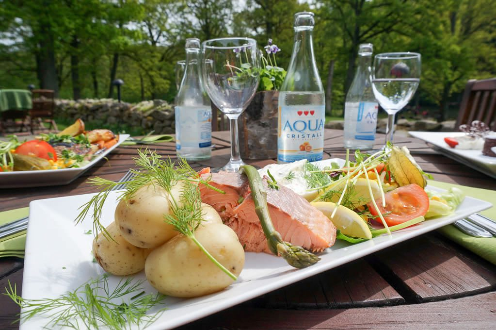 A sampling of traditional Swedish cuisine. © Ralph Grizzle