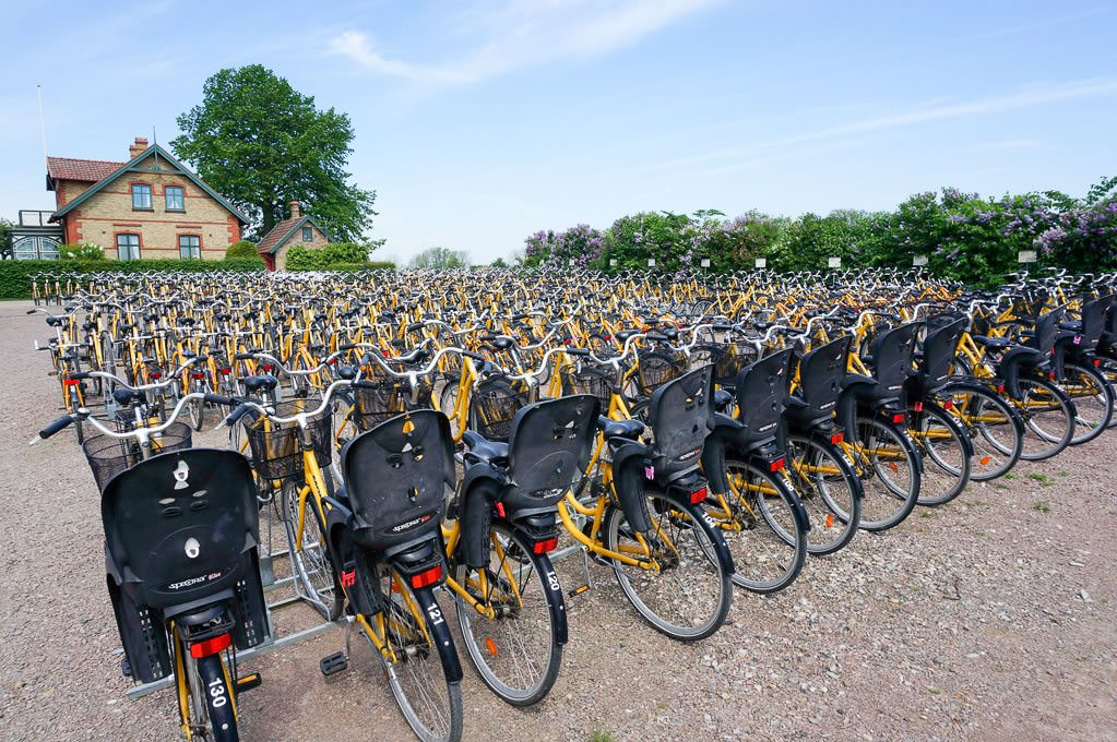 Bikes on the island of Ven. © Ralph Grizzle