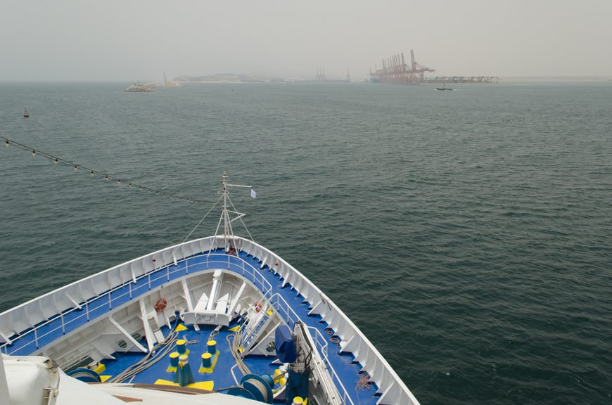 ...to ready us for our 1300 arrival into Salalah, Oman. Photo © 2015 Aaron Saunders