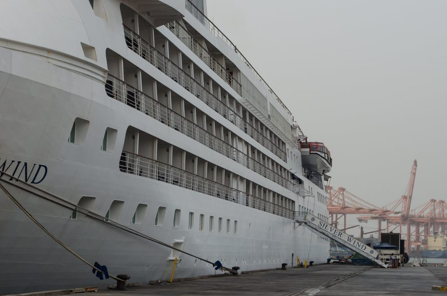 Still, I found time to pop off and go ashore to take some photos of the Silver Wind in port. Photo © 2015 Aaron Saunders