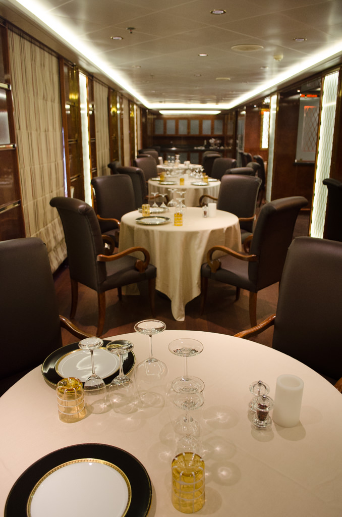 Le Champagne is located on the starboard side of Deck 4, just forward of the main Restaurant. Photo © 2015 Aaron Saunders