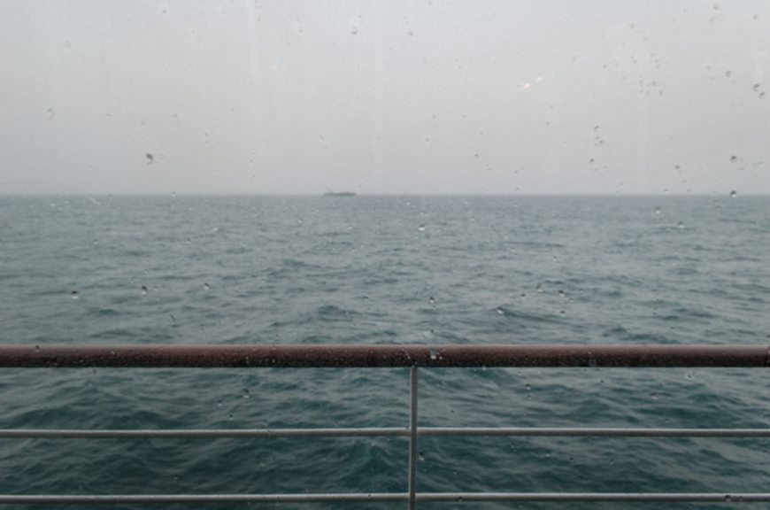 Today was our first stormy, unsettled morning at sea...Photo © 2015 Aaron Saunders