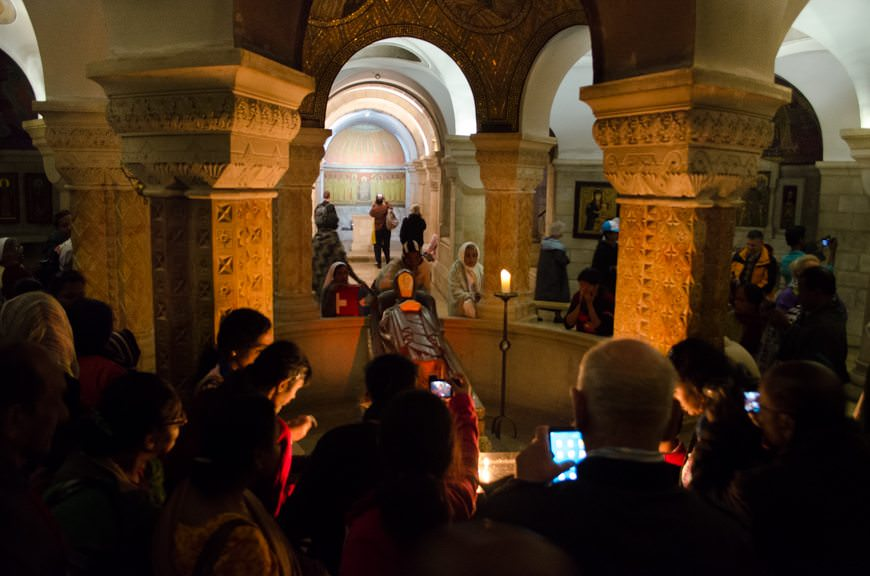 Beneath the cathedral, in the crypt, is the Dormition of the Virgin Mary. Photo © 2015 Aaron Saunders