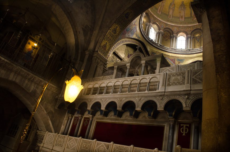 ...we arrived in the Church of the Holy Sepulchre, where Jesus of Nazareth was crucified and is also said to have been buried. Photo © 2015 Aaron Saunders
