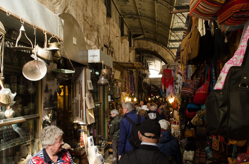 Wandering through Jerusalem's fascinating Bazaars. Photo © 2015 Aaron Saunders