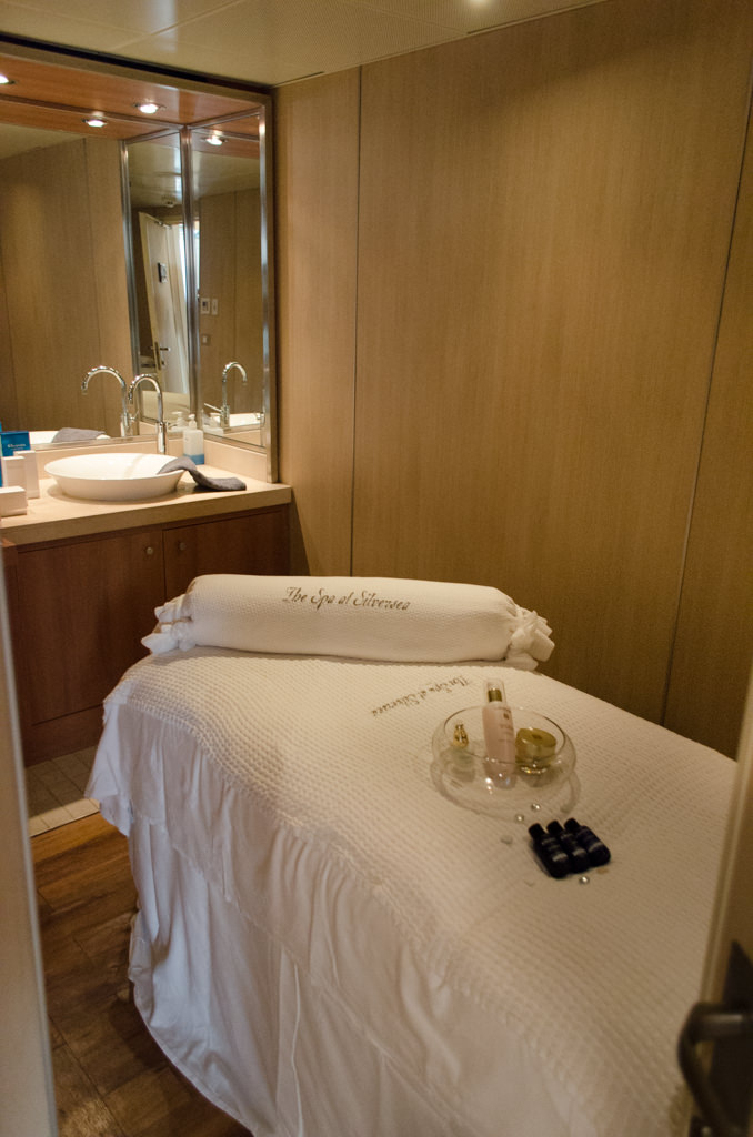 ...at the Spa at Silversea on Deck 9 forward. Photo © 2015 Aaron Saunders