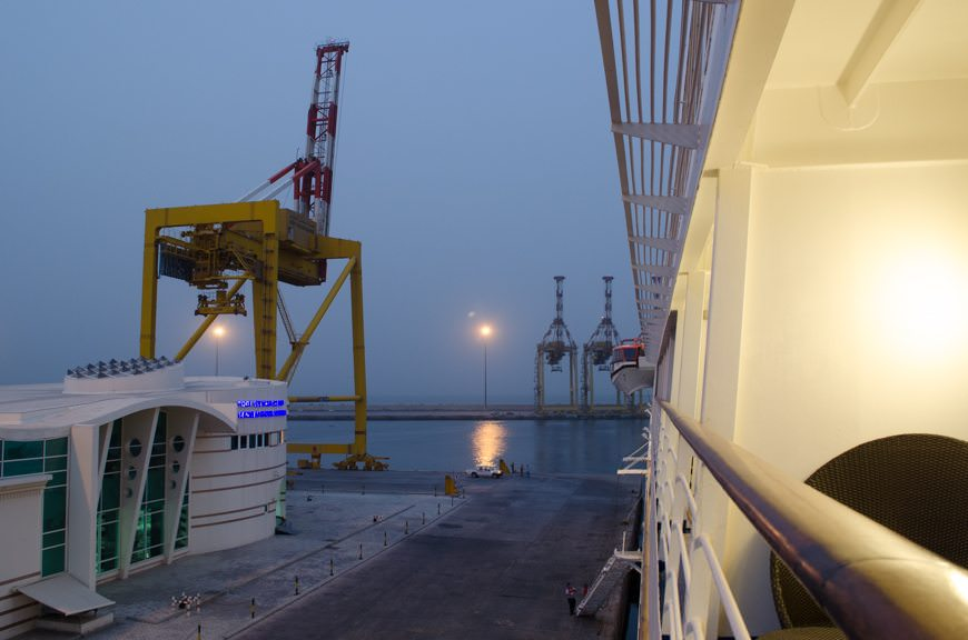 ...to watch our departure from Muscat, Oman. Photo © 2015 Aaron Saunders