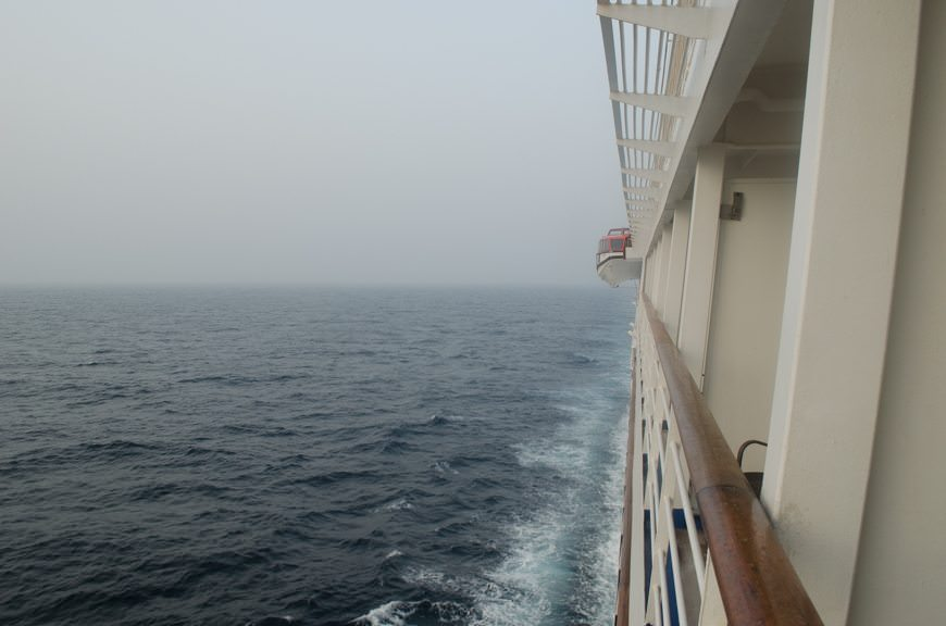 Sailing the Arabian Sea aboard Silversea's Silver Wind on Monday, April 6, 2015. Photo © 2015 Aaron Saunders